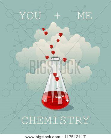 Invitation Valentines day card