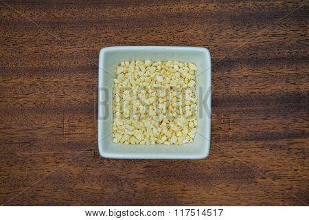 Garlic In White Bowl