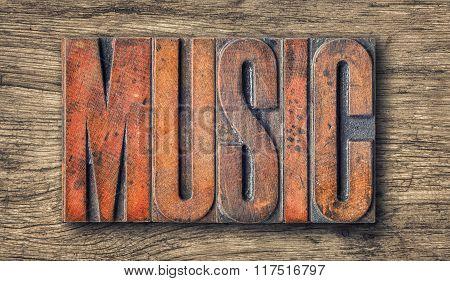 Antique Letterpress Wood Type Printing Blocks - Music