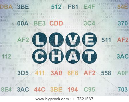 Web design concept: Live Chat on Digital Paper background