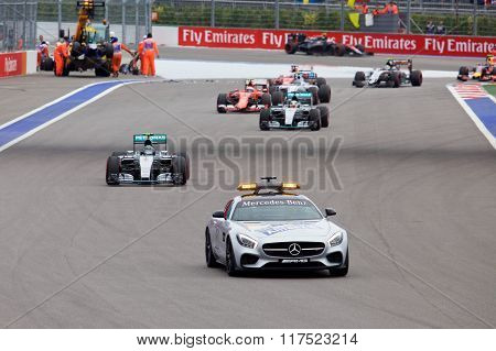 Nico Rosberg of Mercedes AMG Petronas. Formula One. Sochi Russia