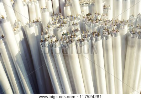Fluorescent light tubes, electric pieces of rubbish
