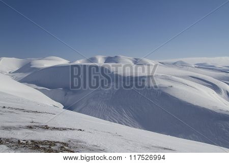 Winter Landscape Of The Central Part Of Bering