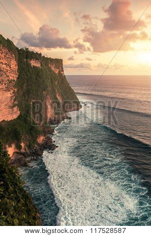 Uluwatu Temple In Bali On The Rock. Indonesia.