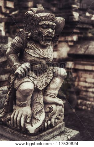 The Old Stone Statue. Indonesia, Bali.