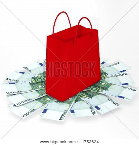 Shopping bag and euro
