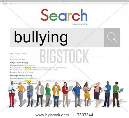 Bullying Force Tyrannise Scare Oppression Concept poster