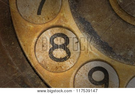 Close Up Of Vintage Phone Dial - 8