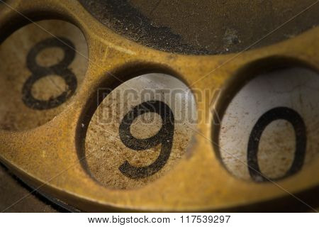 Close Up Of Vintage Phone Dial - 9