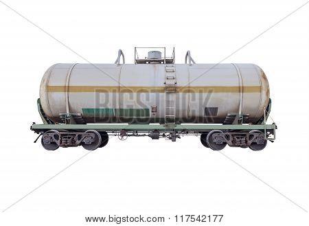 Tanker Car For The Liquid Goods Transportation.
