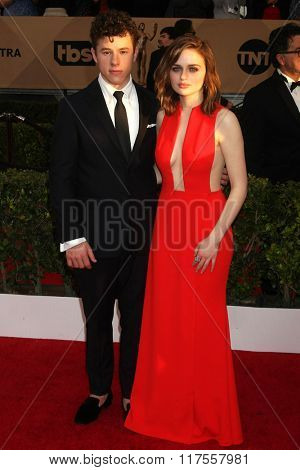 LOS ANGELES - JAN 30:  Nolan Gould, Kerris Dorsey at the 22nd Screen Actors Guild Awards at the Shrine Auditorium on January 30, 2016 in Los Angeles, CA