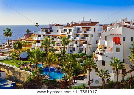 Tenerife village in summer season