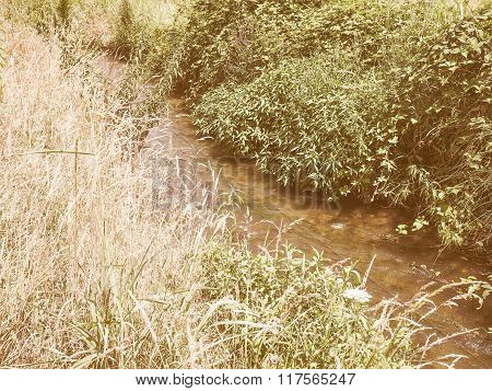 Retro Looking Water Rivulet