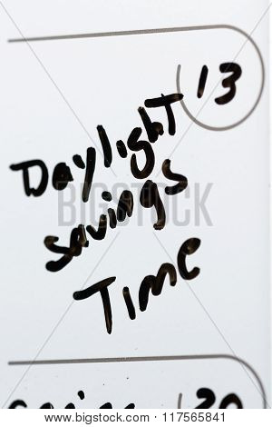 March 13, Daylight Savings Time