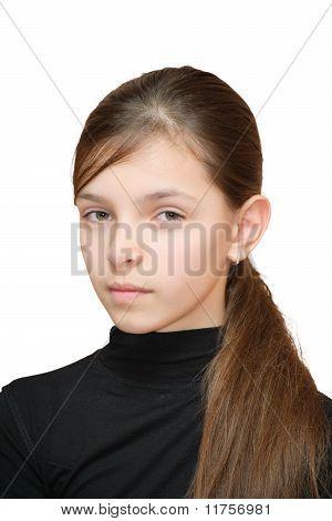 Girl Looks Suspiciously