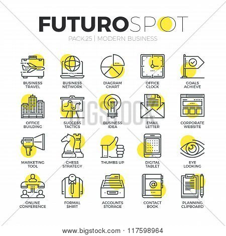 Business Marketing Futuro Spot Icons