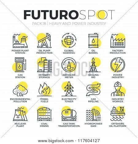 Resource Mining Futuro Spot Icons