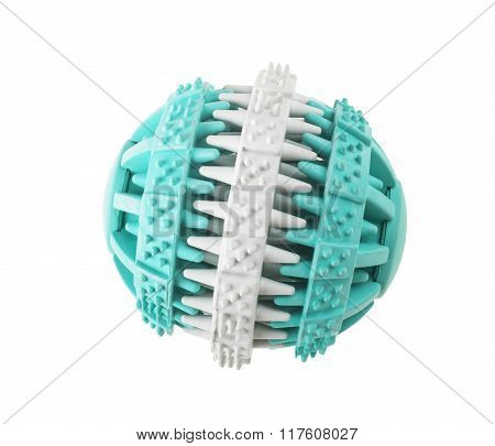 Ball toy for dog on white background