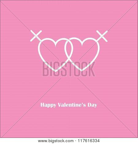 Happy Valentine's Love Lesbian Pink Card