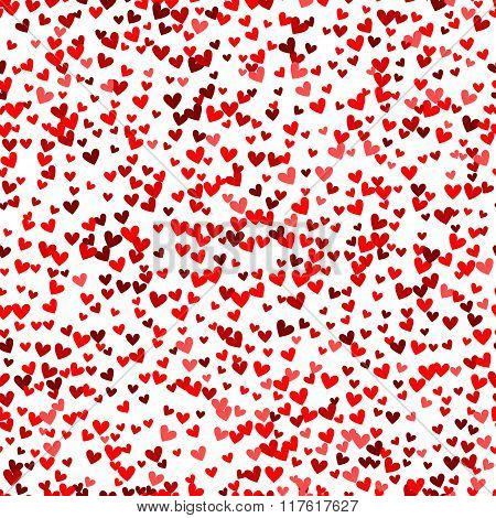 Romantic red heart pattern. Vector illustration