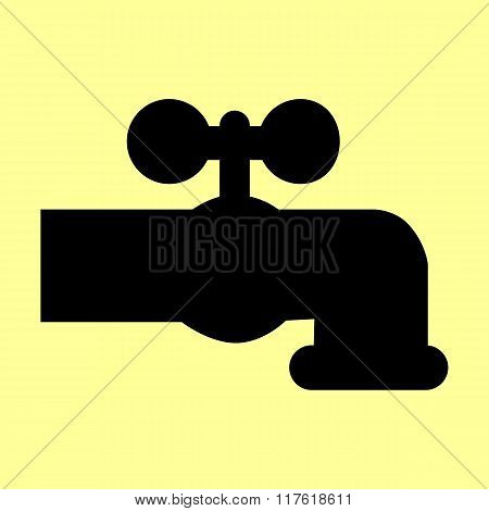 Water faucet sign