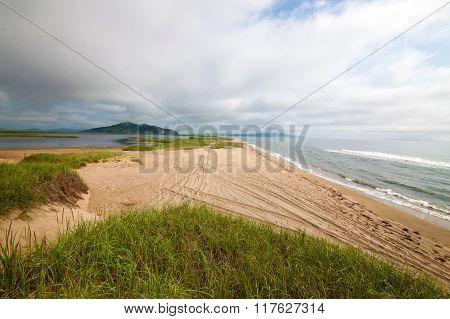 Untrodden Sandy Coastline