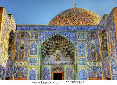 Sheikh Lotfollah Mosque On Naqsh-e Jahan Square Of Isfahan, Iran