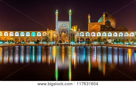 View Of Shah (imam) Mosque In Isfahan - Iran
