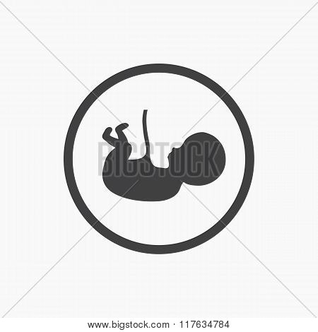 Abstract vector fetus symbol
