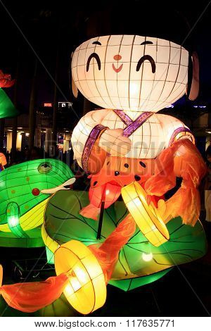 Chinese lanterns for lunar near year
