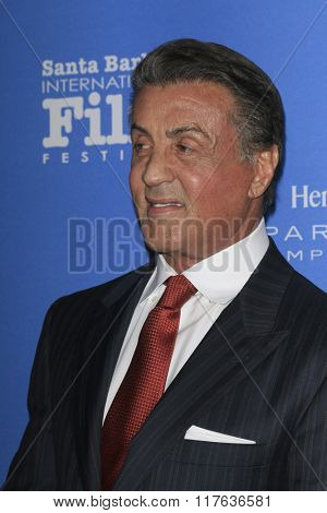 SANTA BARBARA - FEB 9:  Sylvester Stallone at the 31st Santa Barbara International Film Festival Montecito Award at the Arlington Theatre on February 9, 2016 in Santa Barbara, CA