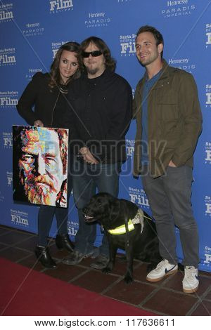 SANTA BARBARA - FEB 9:  Lara Firestone, John Bramlitt, Ryan Pettey at the 31st SBIFF Montecito Award at the Arlington Theatre on February 9, 2016 in Santa Barbara, CA
