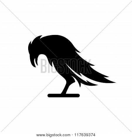 Black crow logo