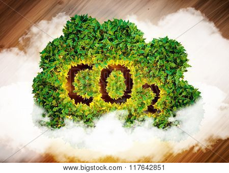 Greenhouse Gas Concept.