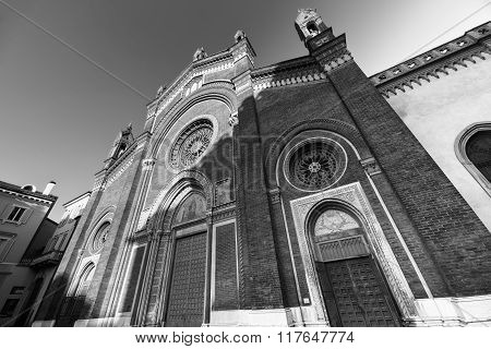 Milan: Facade Of  Carmine Church