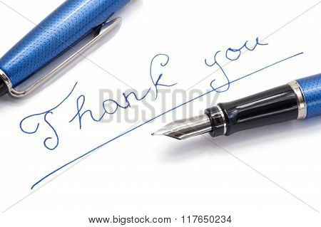Thank You Note On White Background