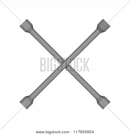 Crossed Car Wrench