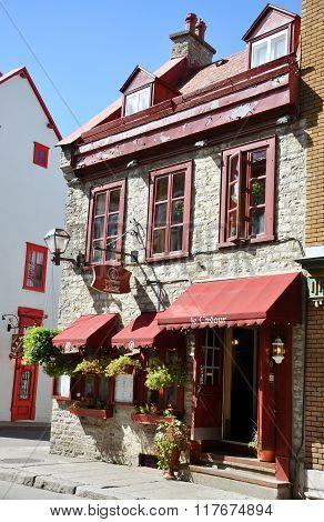 Colorful Houses on Rue Saint Louis, Quebec City