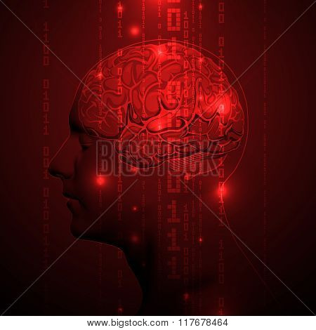 Active Human Brain with Binary digits