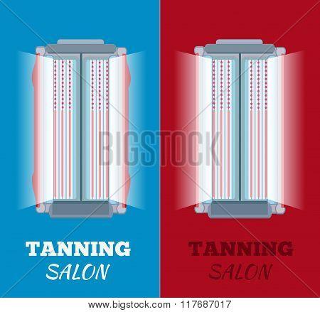 Tanning Salon Vector Illustration