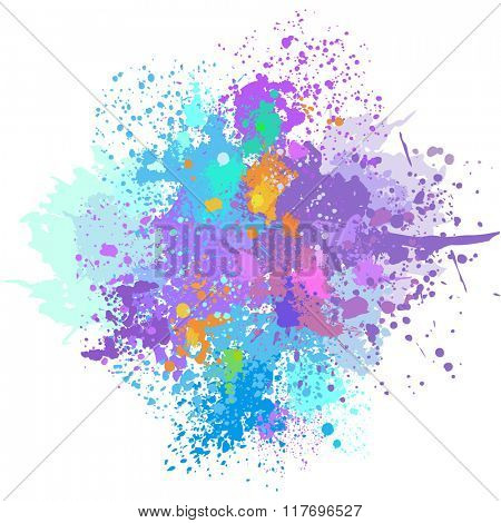 Color background of paint splashes on white  background