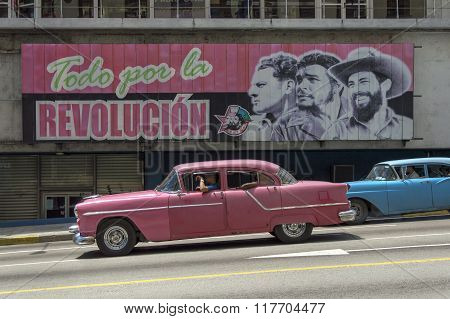 Cuban propaganda billboard