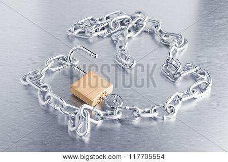 Closeup On Silver Chain