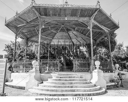 The bandstand where transgender Sonia was killed in 1991.