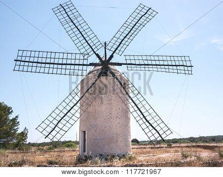 Old Windmill In La Mola