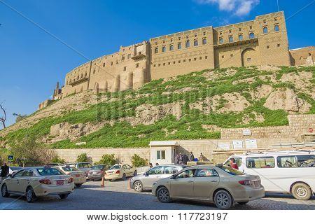 Old Castle In Erbil City,iraq