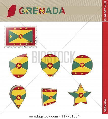Grenada Flag Set, Flag Set #127