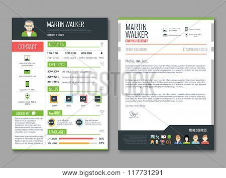 CV layout template
