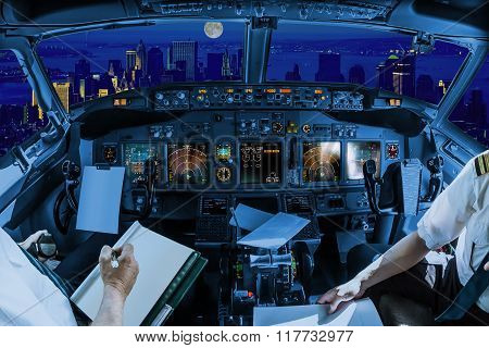 New York night flight