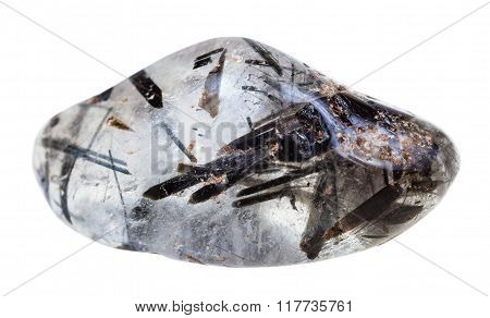 Tumbled Quartz With Schorl Crystals Gemstone